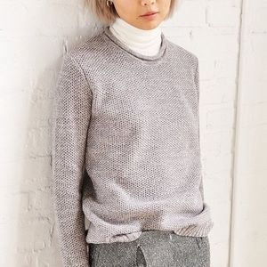 Cozy Grey Knit Sweater